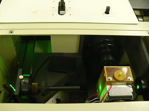 Inside Raman macrochamber