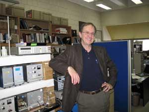 Prof. Tremaine with densimeter